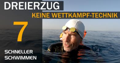 Schneller Schwimmen #07: Dreierzug ist keine Wettkampf-Technik