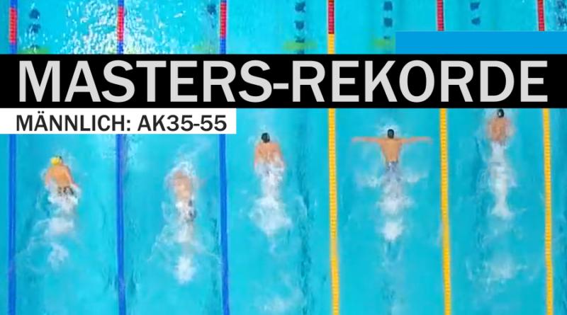Masters-Rekorde: DR, ER, WR in der AK 35 bis AK 55 männlich