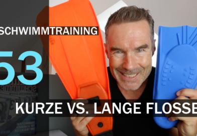 Tipp #53: Kurze oder lange Flossen im Schwimmtraining?